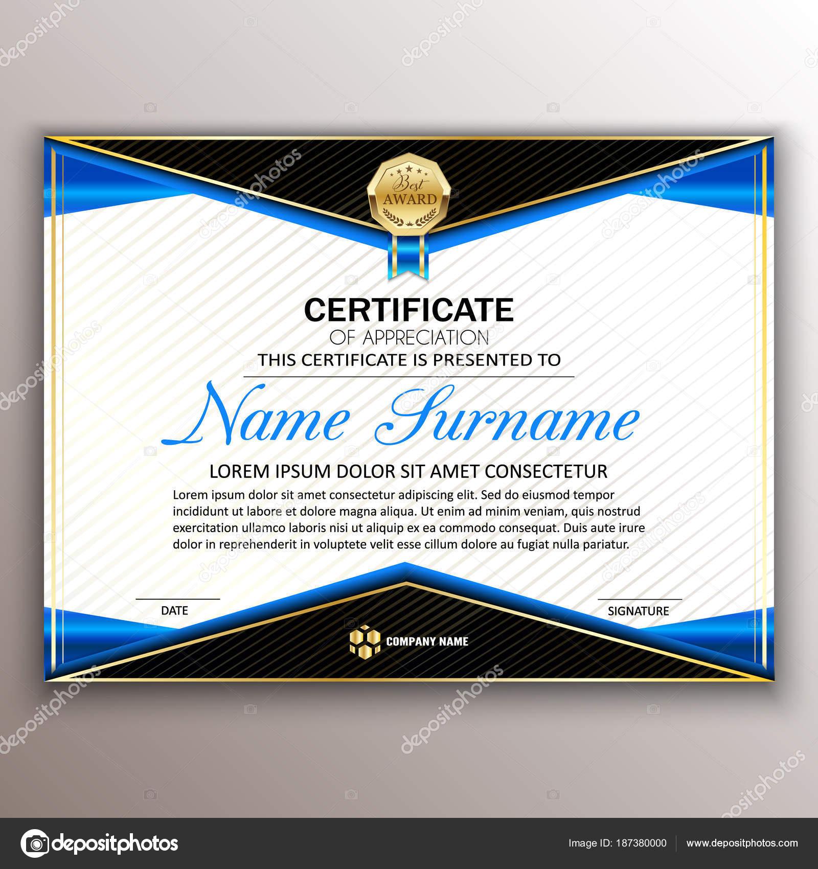 Schöne Zertifikat Vorlagendesign mit besten Preis-Symbol. Ve ...