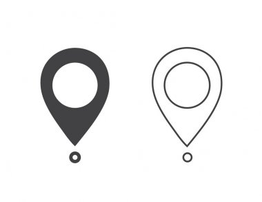 Maps pin. Location map icon. Location pin. Pin icon
