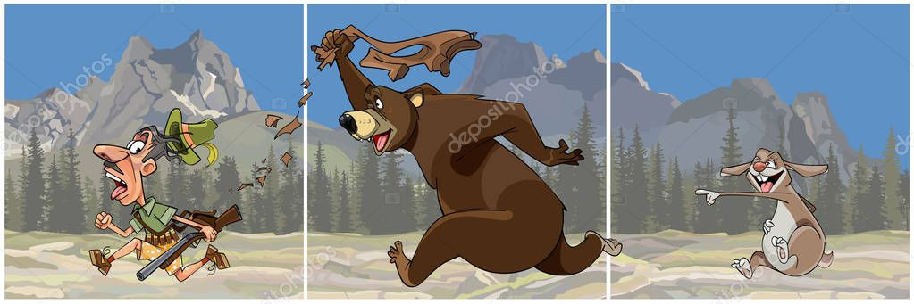 Парах картинки, картинка про медведя и охотника