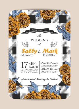 Botanic wedding invitation