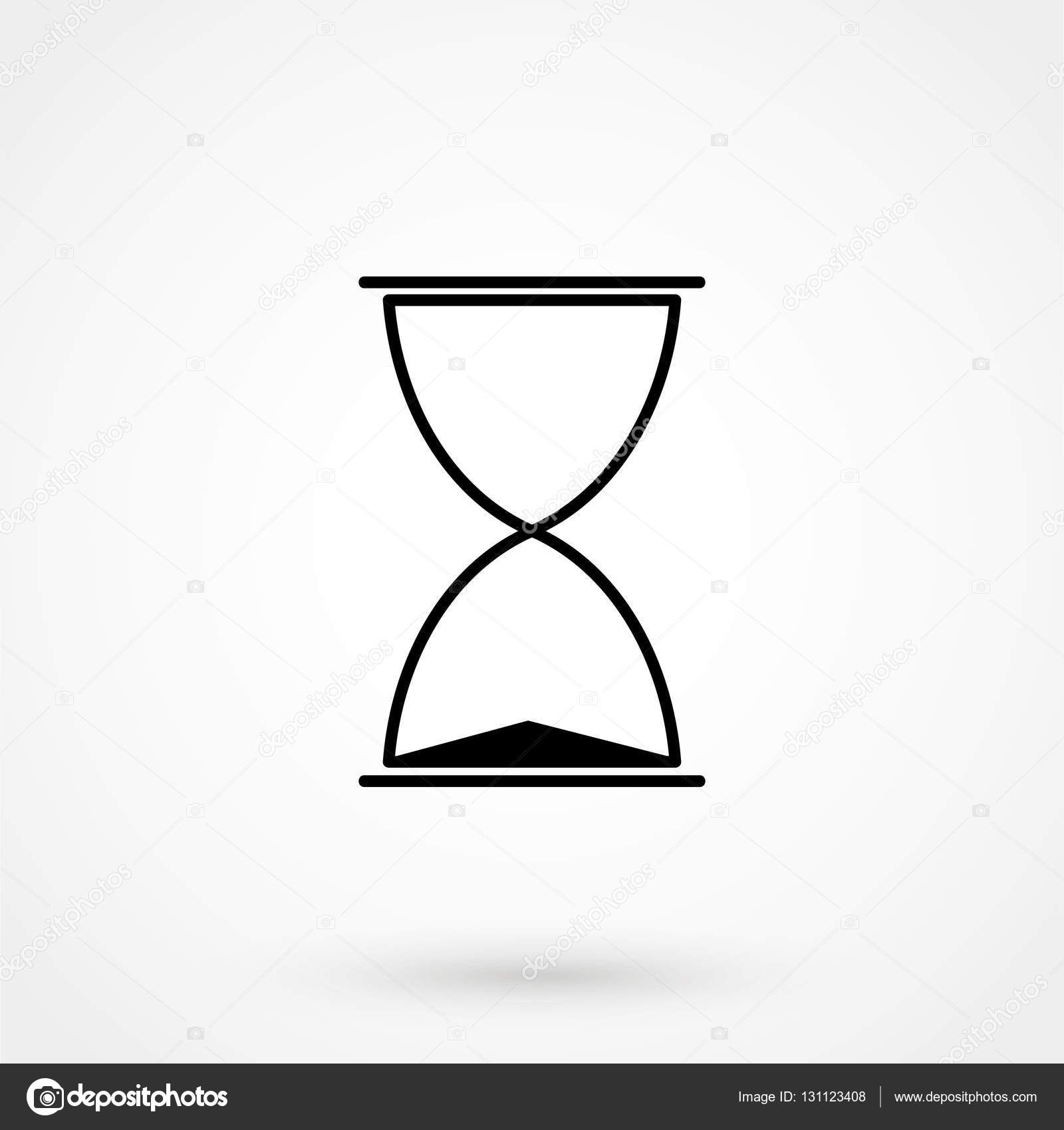 Sanduhr icon  Vektor Icon schlichtes Design auf einem weißen Hintergrund. Vektor ...