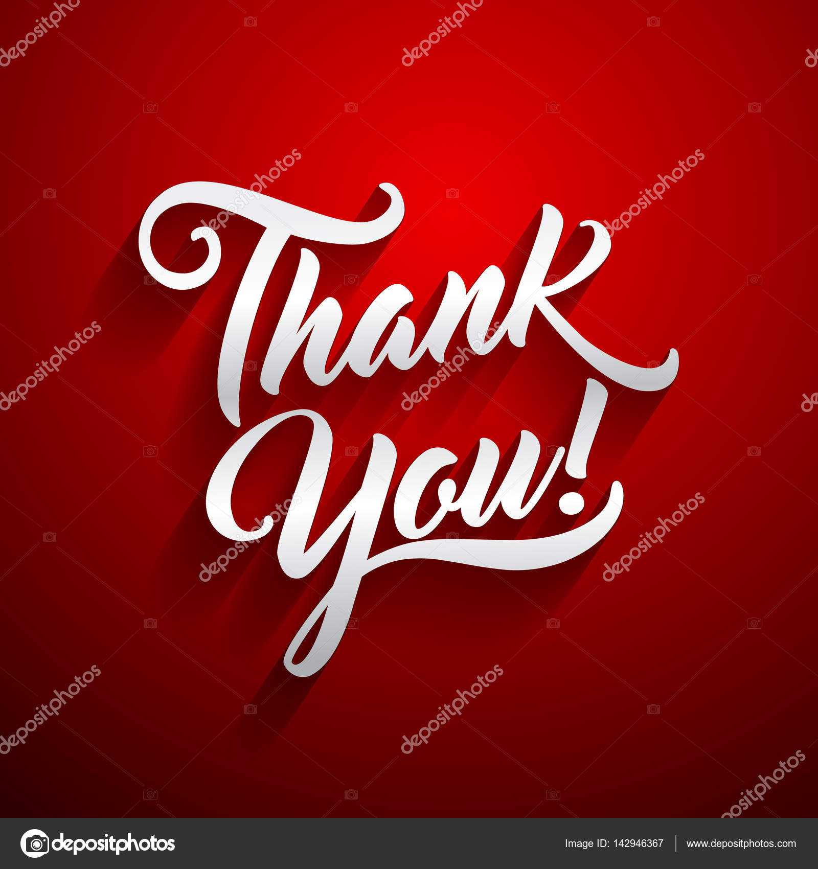 Thank You Beautiful Lettering Text Vector Illustration Thank You