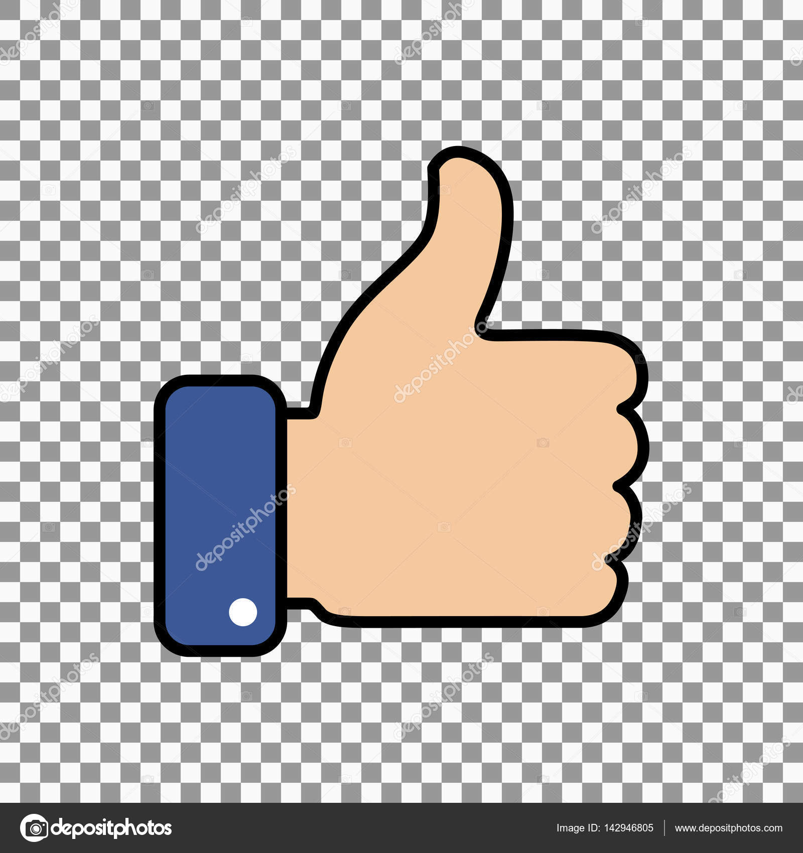 Thumb Up Symbol Finger Up Icon Vector Illustration Stock Vector