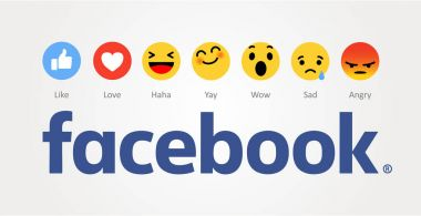 Baku, Azerbaijan - April 14, 2017: Facebook new like buttons. Emoji. Editorial image