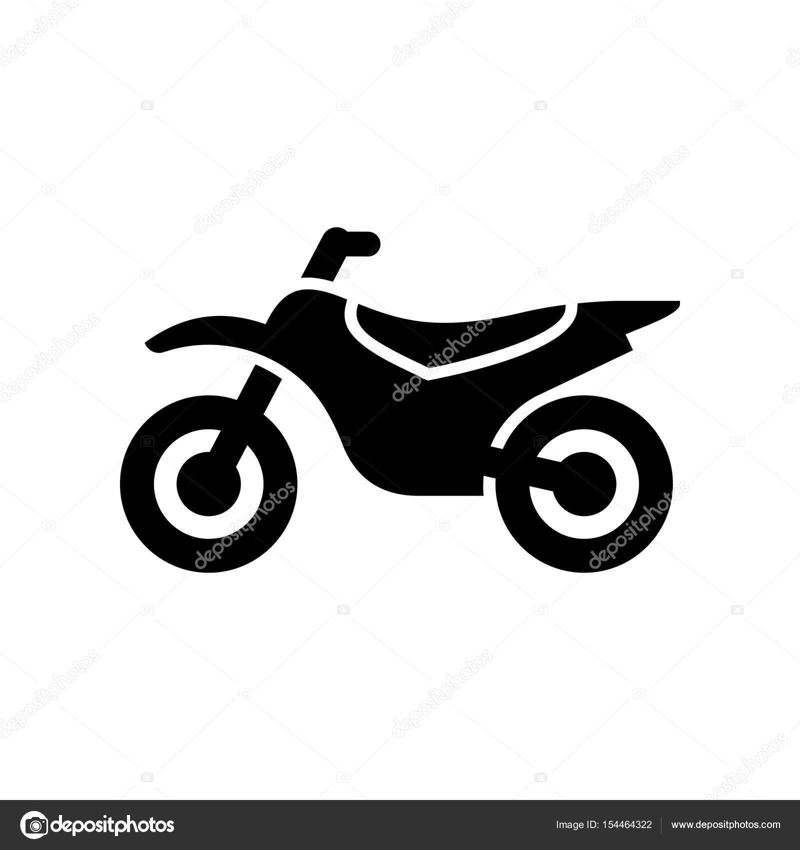 Motorcycle, motorbike icon simple flat vector illustration — Stock ...