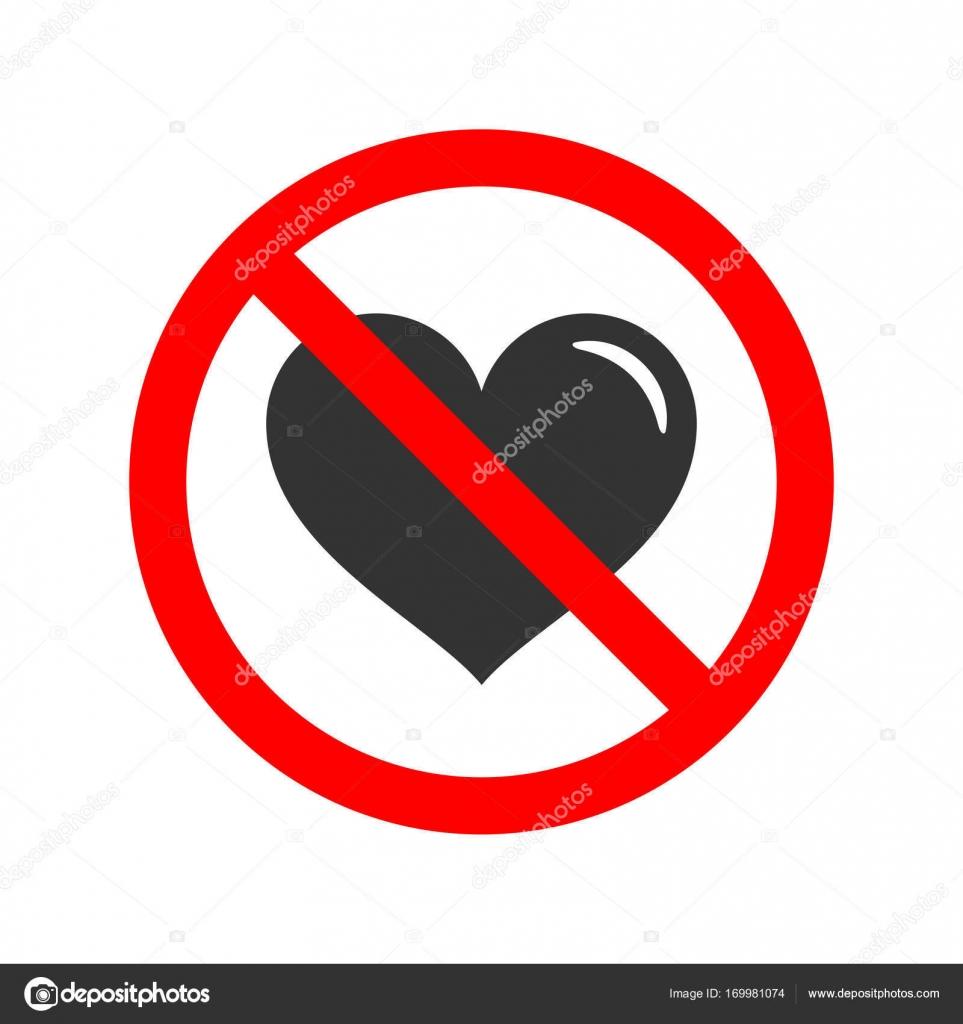 Keine Liebe erlaubt Zeichen — Stockvektor © SubhanBghirov