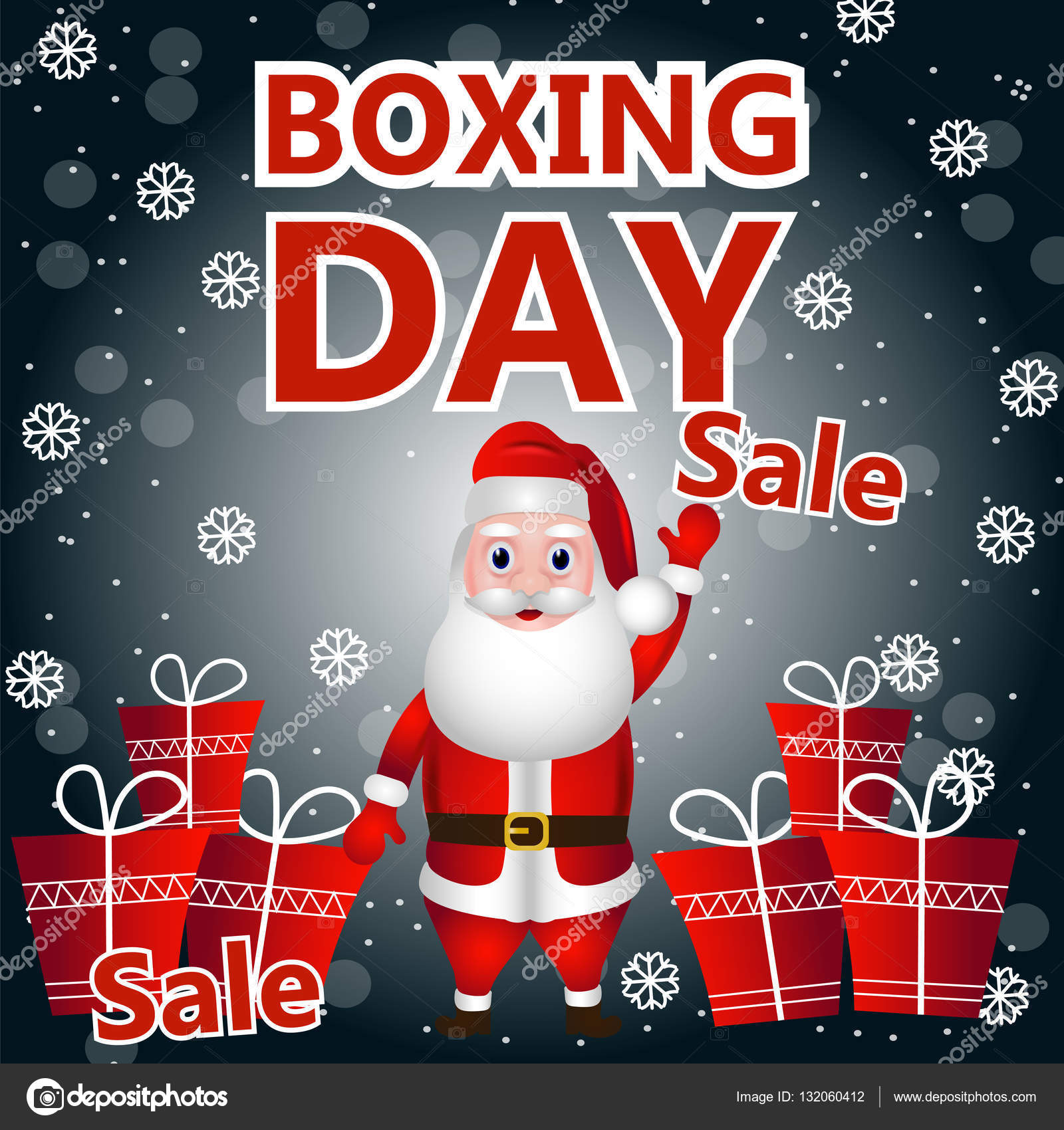 Happy boxing day background greeting card flyer holiday sales happy boxing day background greeting card flyer holiday sales vector by molnia26 kristyandbryce Images