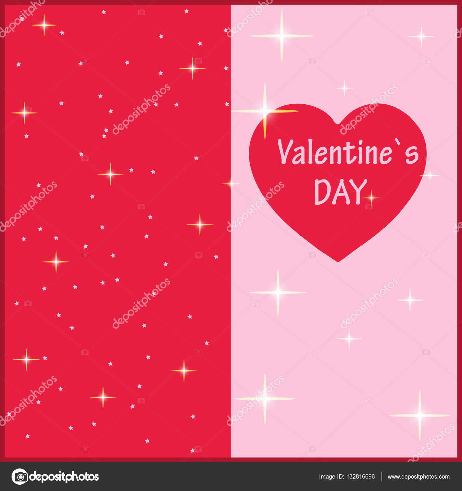 Valentines Day Vector Illustration The Template For Romantic