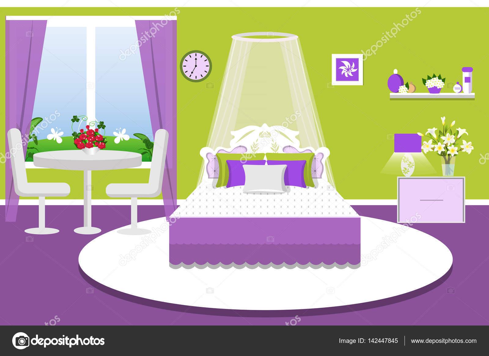 L Interieur De La Chambre A Coucher Illustration Vectorielle