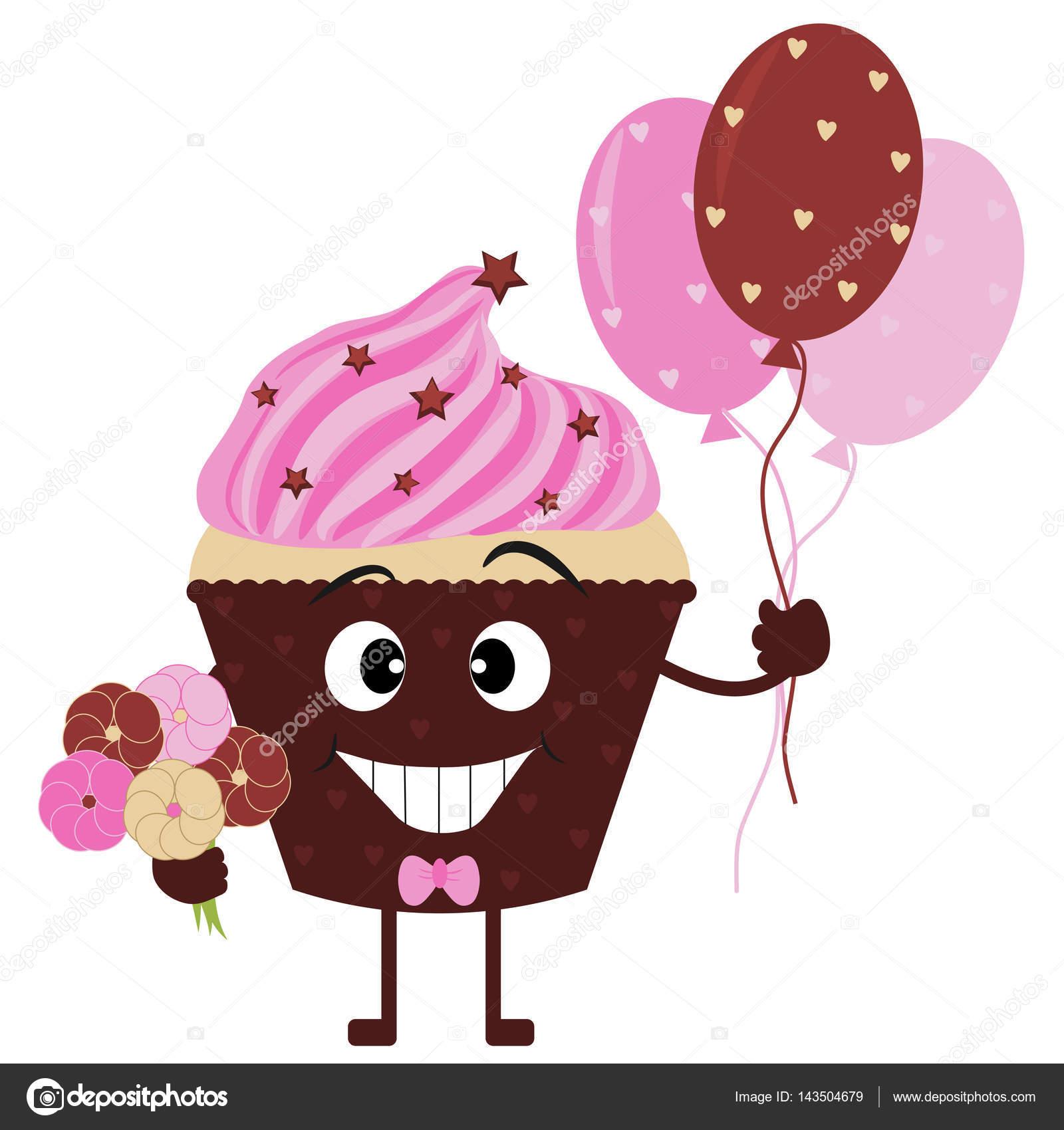 Dibujos Cupcakes Para Imprimir Lindo Y Divertido Cupcake