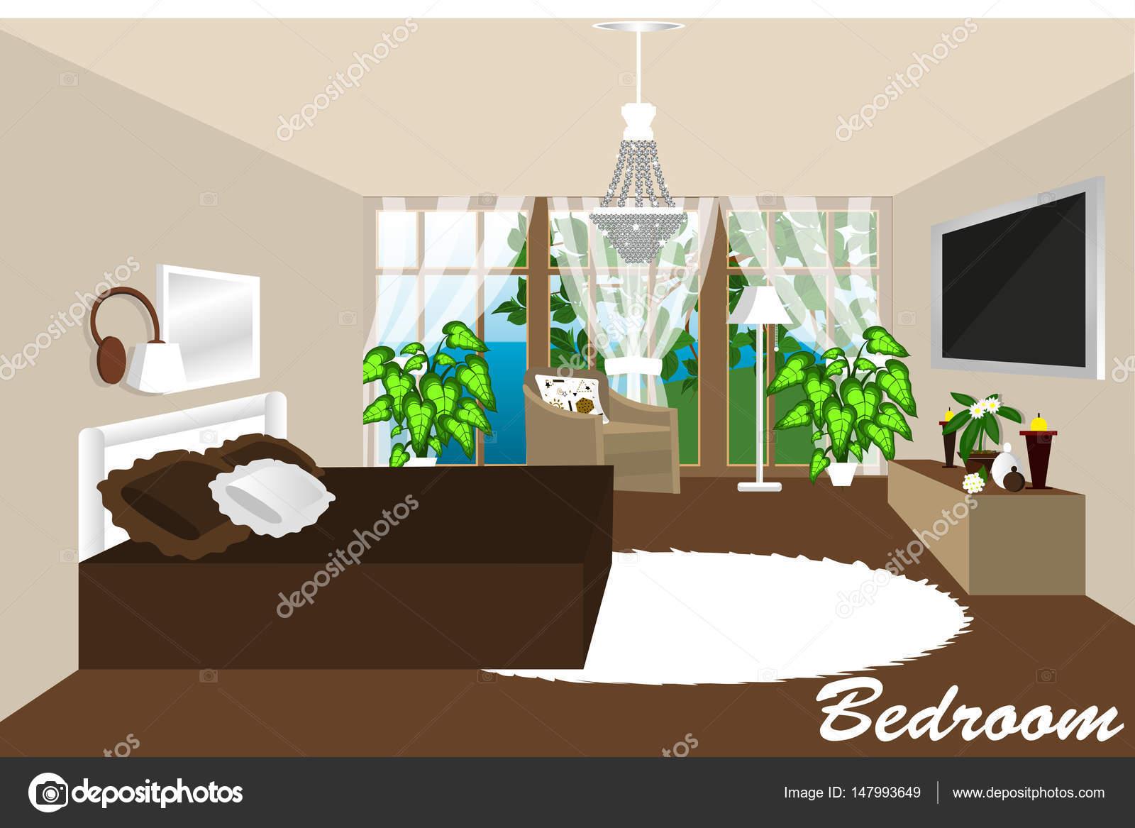El interior de la habitaci n el dise o de la habitaci n - Diseno de una habitacion ...
