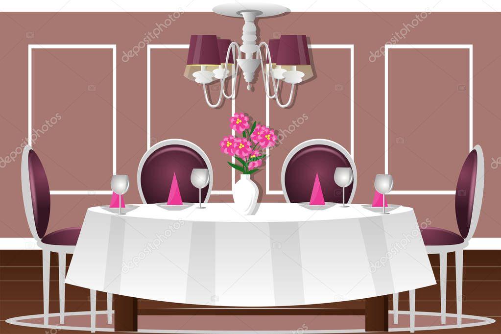 im genes una comedor animada interior de un comedor. Black Bedroom Furniture Sets. Home Design Ideas