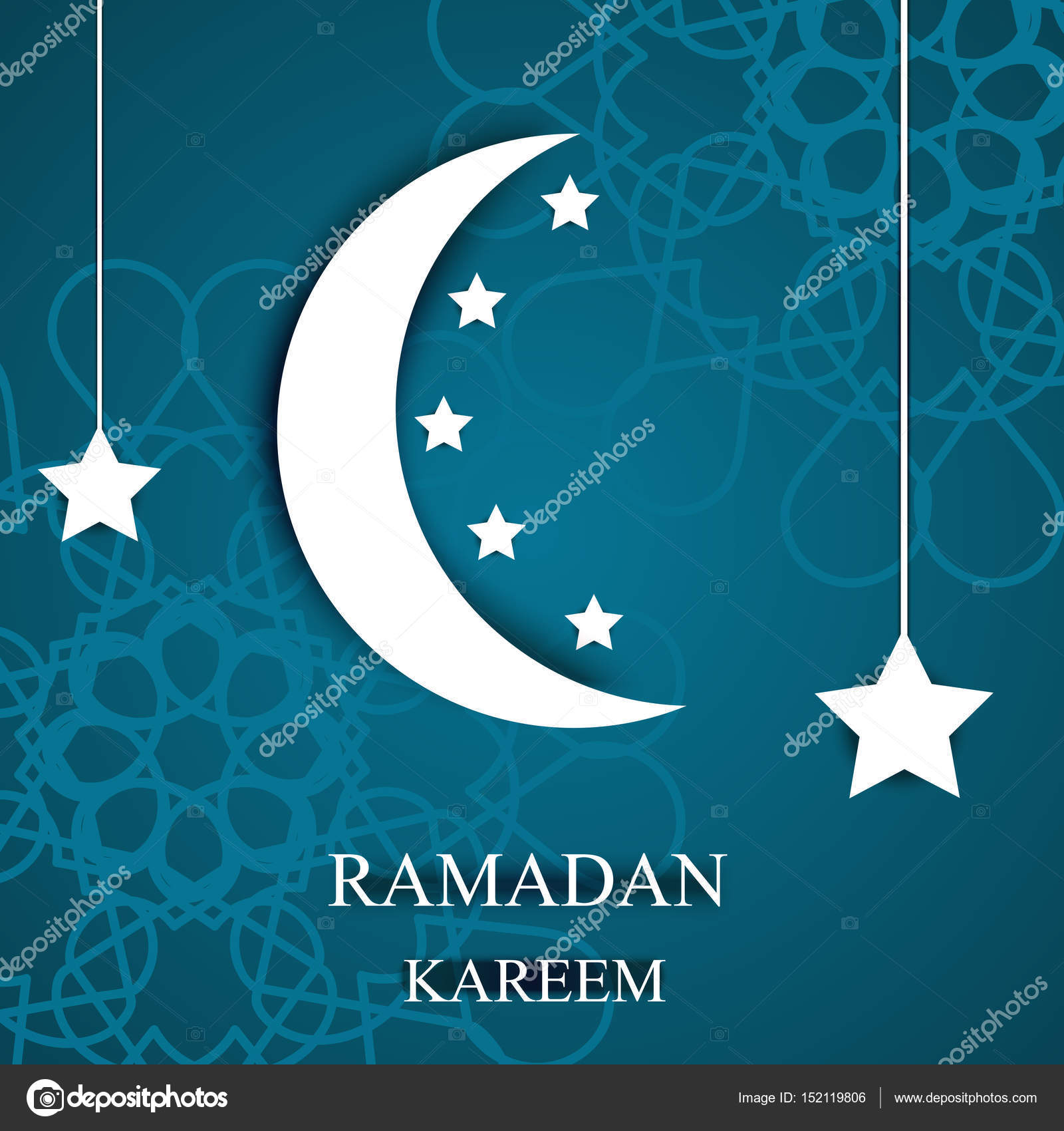 Greeting card invitation for a ramadan kareem 3d style cut greeting card invitation for a ramadan kareem 3d style cut from paper moon kristyandbryce Image collections