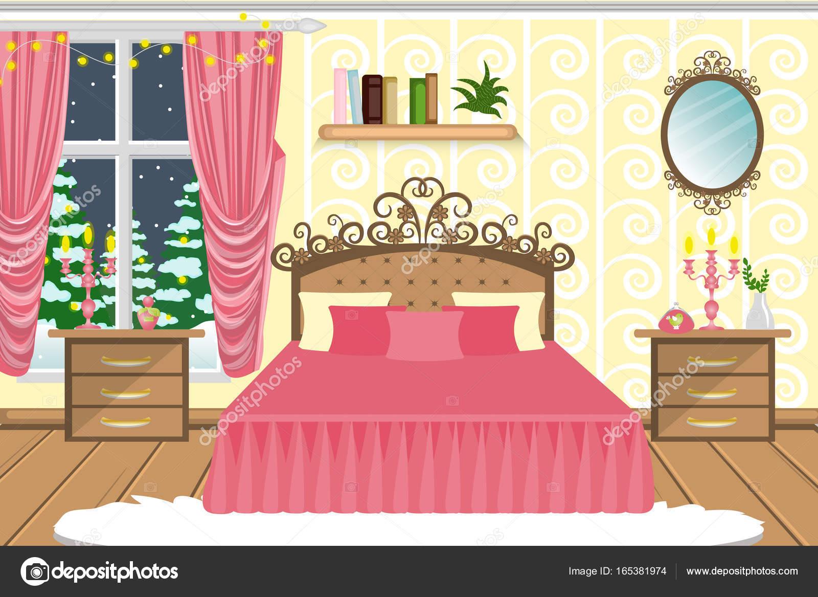l int rieur de la chambre coucher une chambre avec un beau lit et autres meubles confortable. Black Bedroom Furniture Sets. Home Design Ideas