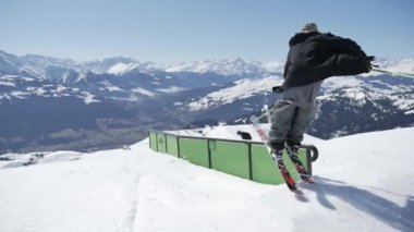 Freestyle Skiing at snowpark