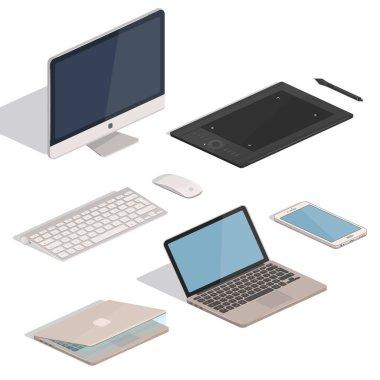 Computer Tablet items Set