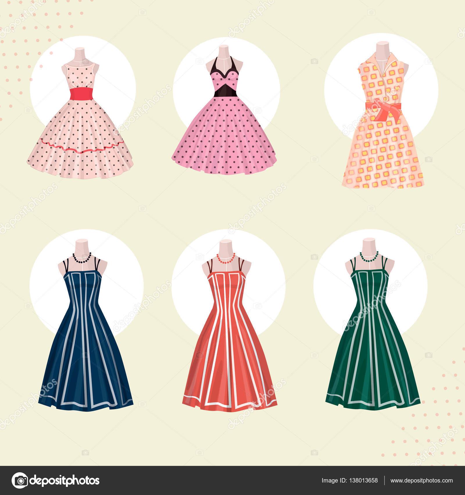 Vestidos De Ropa Vieja Escuela De Los Años 80 Archivo