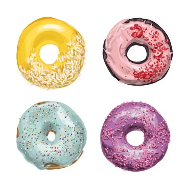 Fascinating sweetest  vector donuts