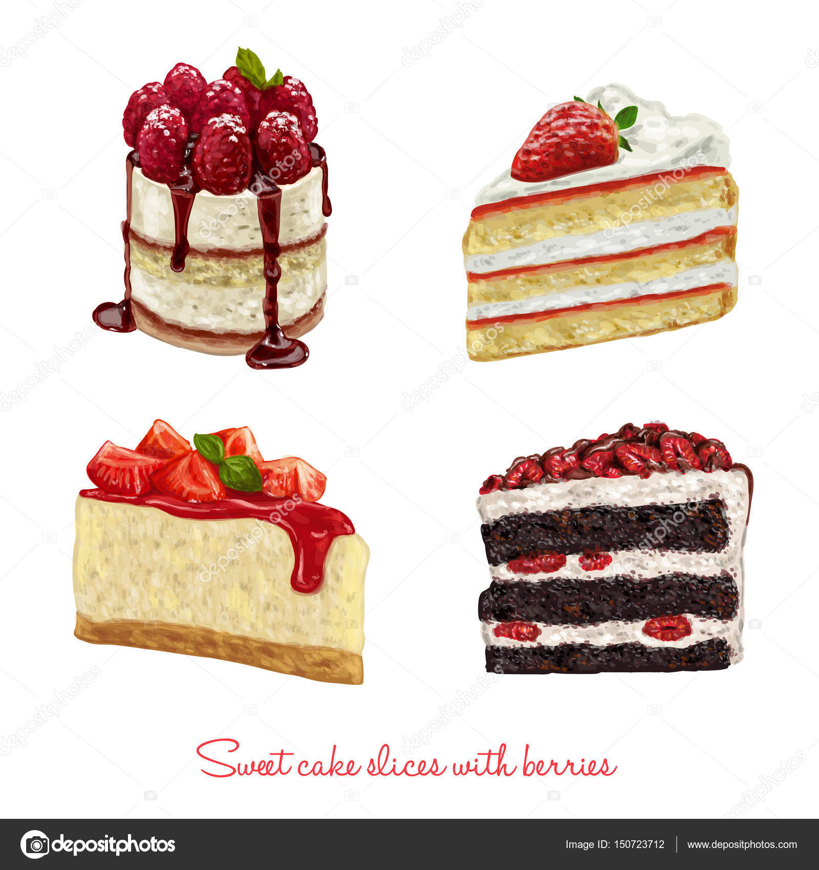 Images of cake slices
