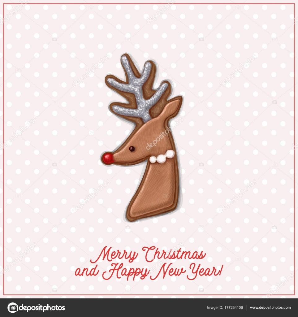 Tarjeta Navidad Original Dibujado Mano Archivo Imagenes - Tarjeta-de-navidad-original