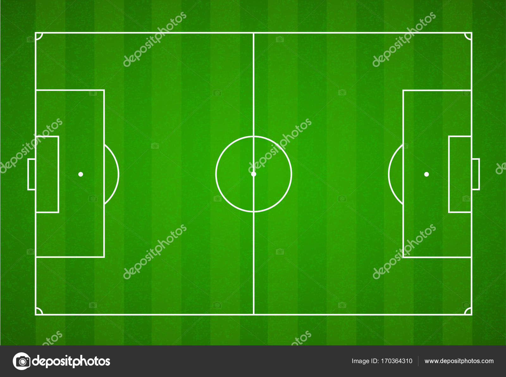 Grunen Rasen Feld Hintergrund Vektor Fussball Fussballfeld