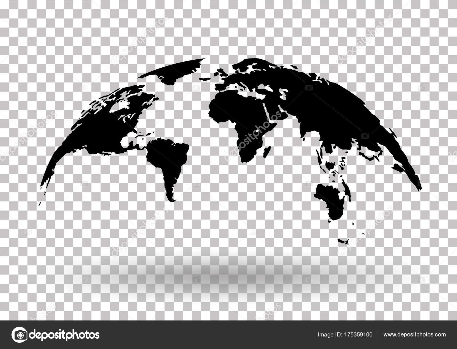 Black world map globe isolated on background stock vector black world map globe isolated on background stock vector stock vector gumiabroncs Gallery
