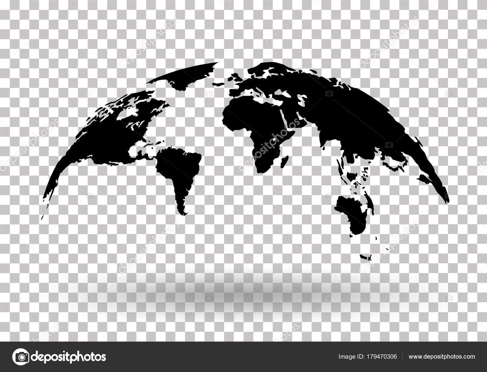 Black world map globe isolated on background stock vector stock black world map globe isolated on background stock vector stock vector gumiabroncs Gallery