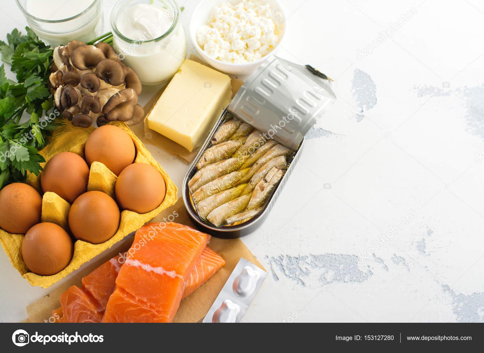 Natuurlijke Bronnen Van Vitamine D Stockfoto C Happy Lark 153127280