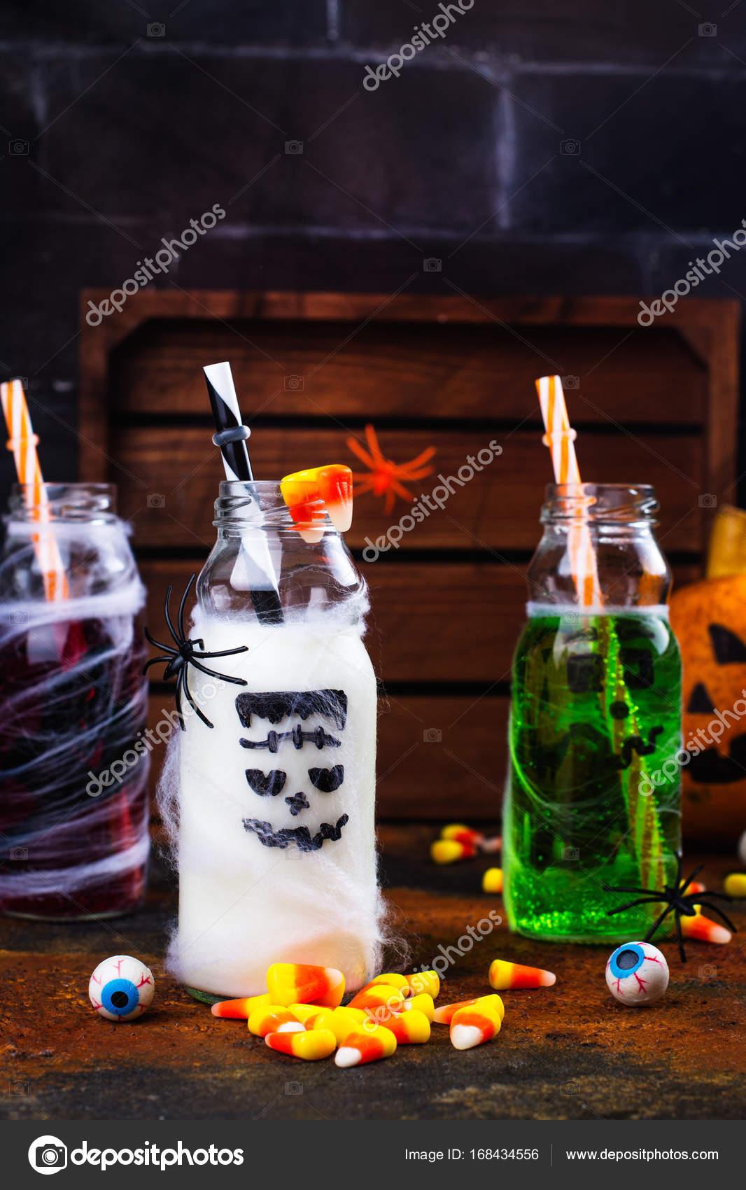 Auswahl an Halloween-Getränke — Stockfoto © happy_lark #168434556