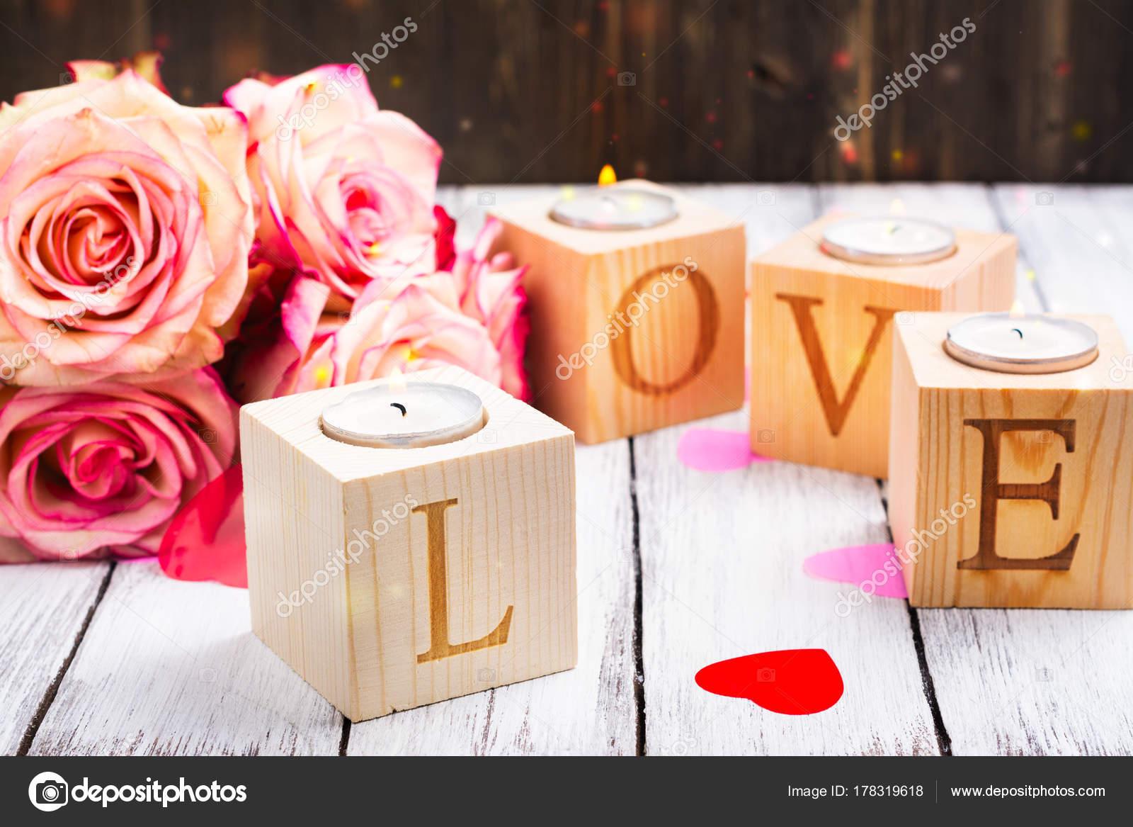 Романтический подсвечник к Дню Святого Валентина