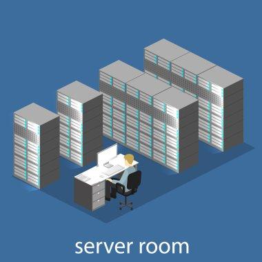 isometric server room