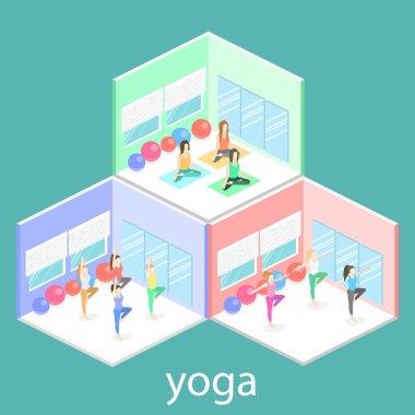 Isometric interiors of yoga class