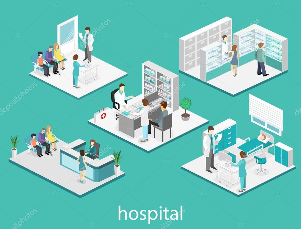 Interior Plano Isom Trico Del Hospital Archivo Im Genes