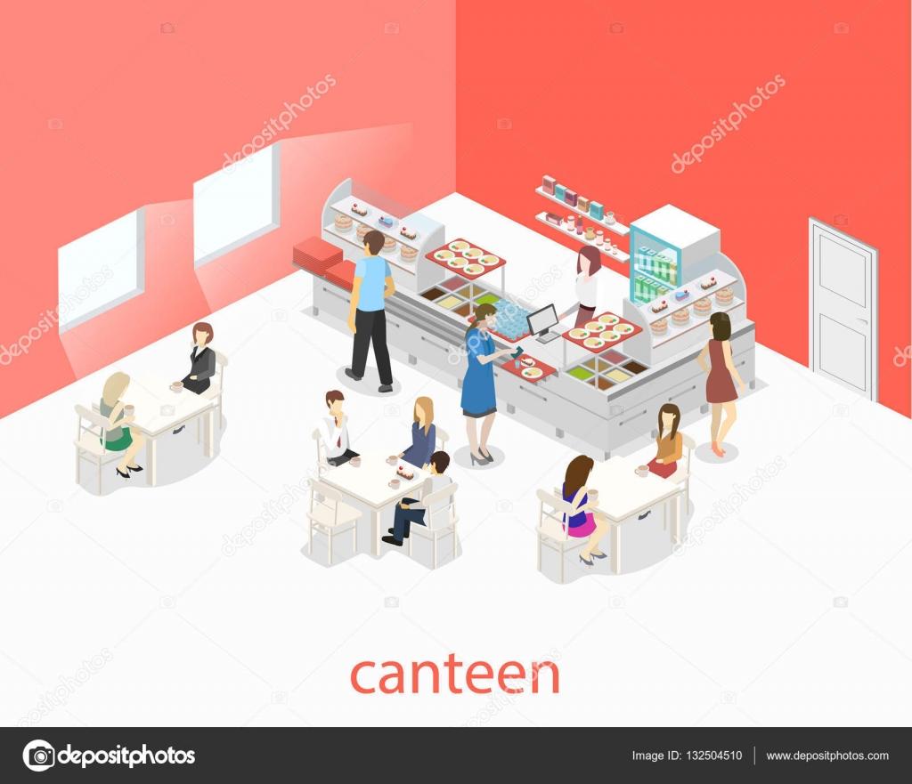 Interior de una cafeter a o comedor vector de stock for Comedor vector