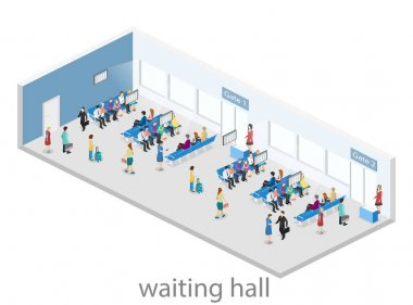 interior of waiting room in air