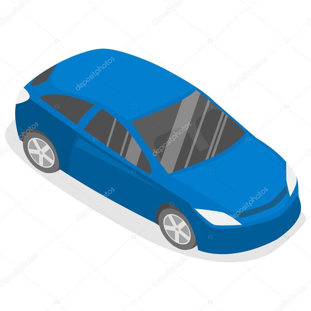 Isometric flat car.