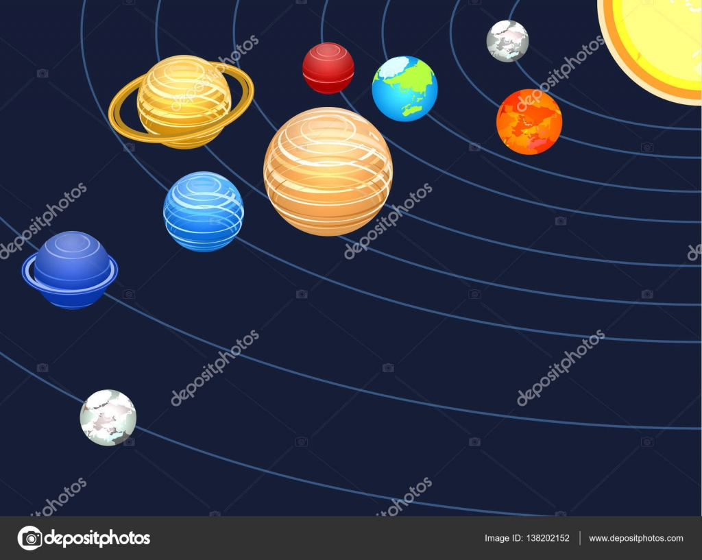 Solar system showing planets stock vector reenya 138202152 solar system showing planets stock vector ccuart Image collections