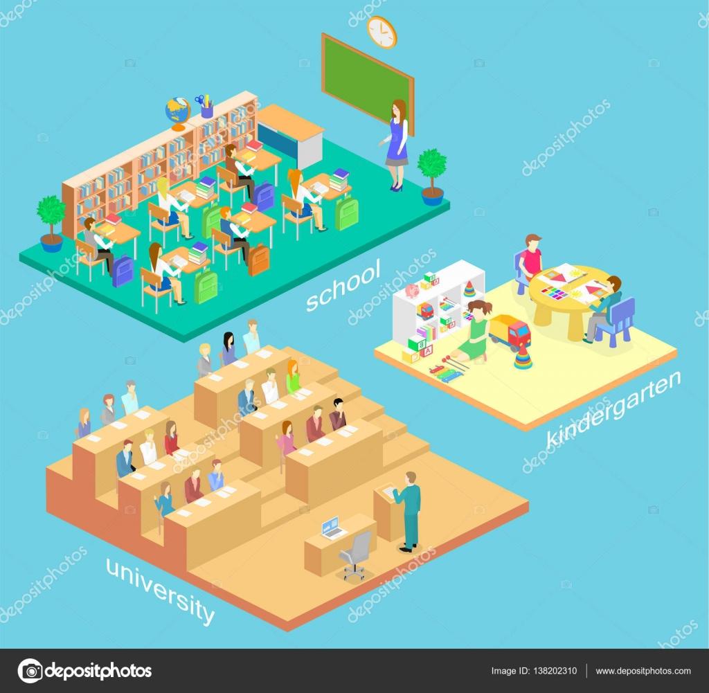 Konzept innenraum kindergarten stockvektor reenya for Konzept kindergarten