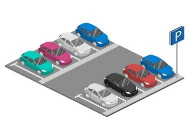 Urban transport. parking space