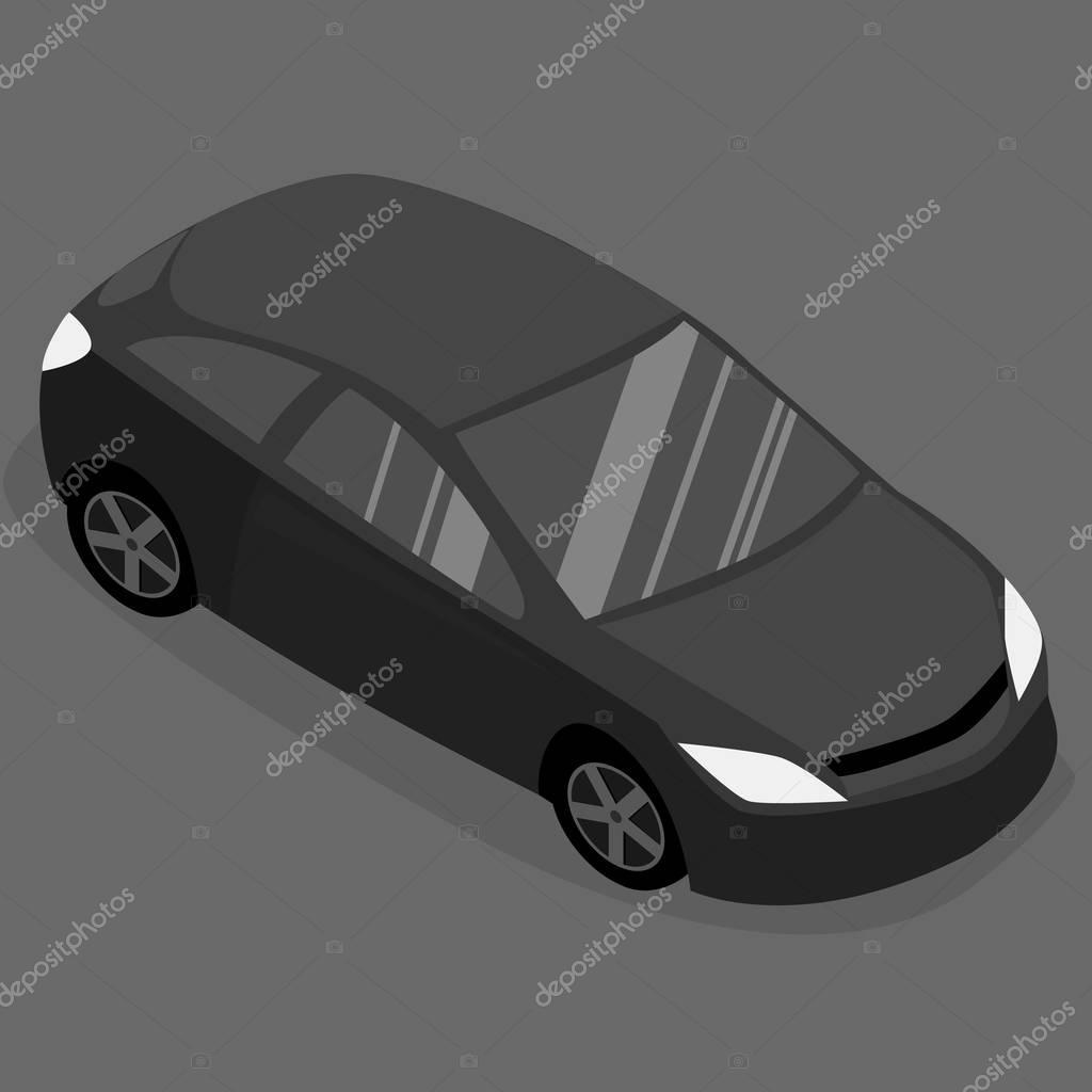 Isometric cars. Urban transport.