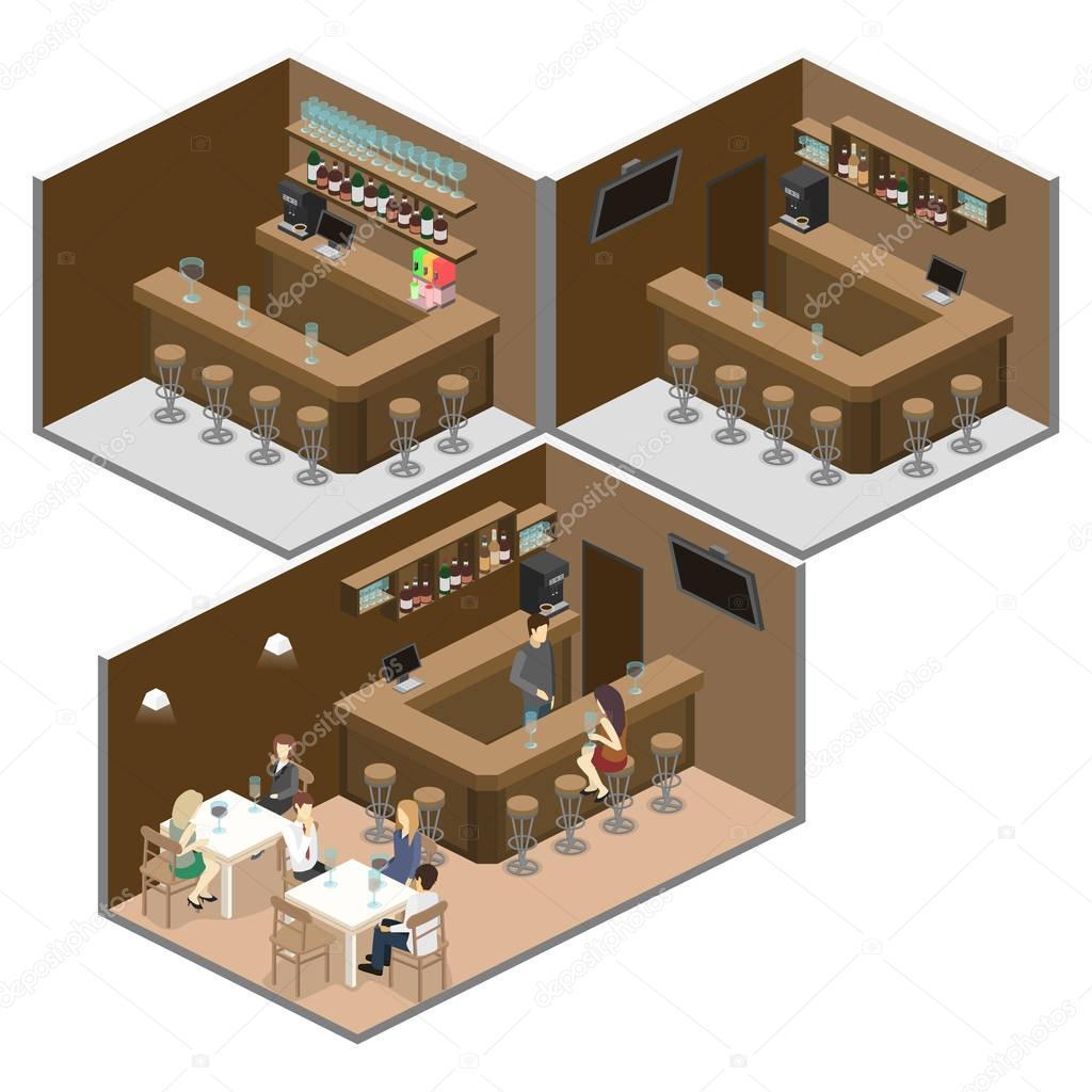 interior of bar or pub