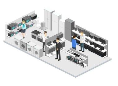 interior of household equipment store