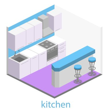 interior of modern kitchen