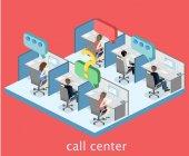 Innenraum des Call Centers