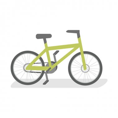 flat isolated concept  bicycle.