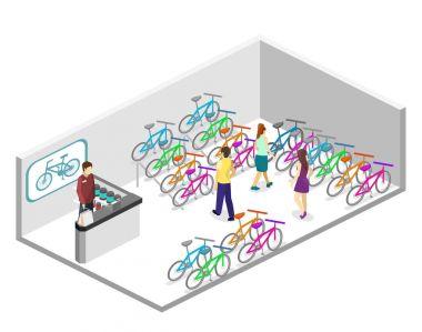 interior of bicycle shop