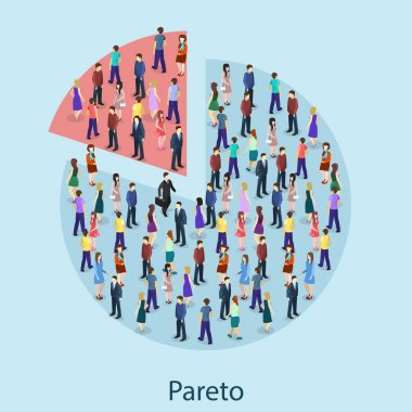 Isometric crowd of people