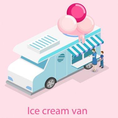 concept  ice cream truck