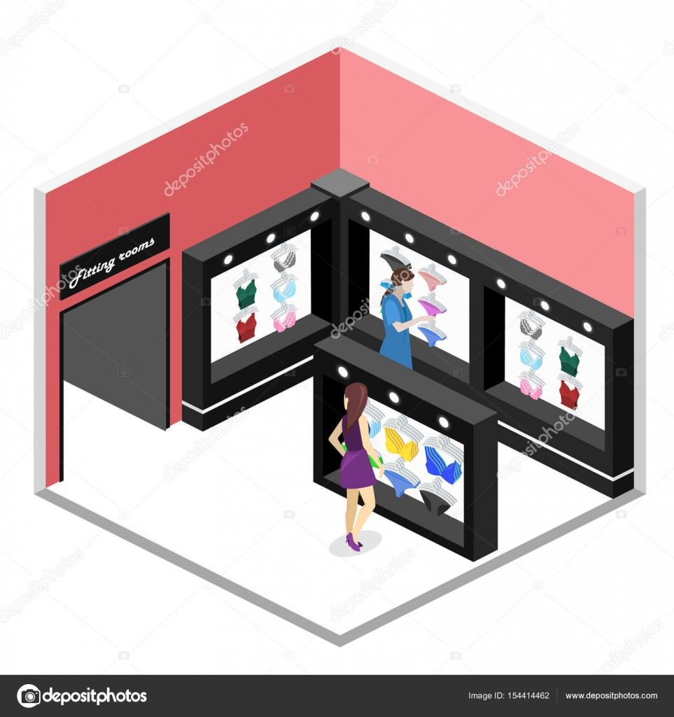 magasin de lingerie intérieur cutaway — Image vectorielle reenya ...