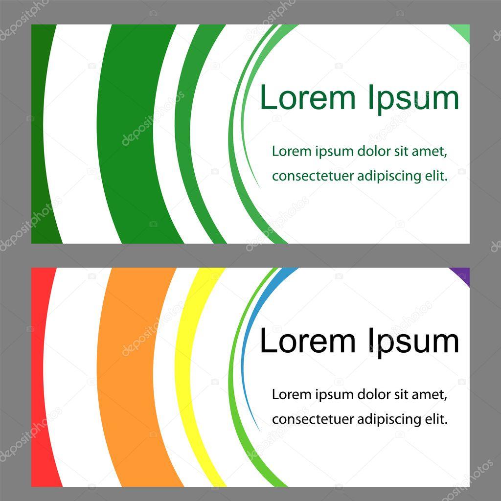 Dos plantillas para tarjetas de visita, etiquetas, volantes ...